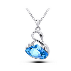 Crystal Ocean Swan Necklace  (3 Color Styles)