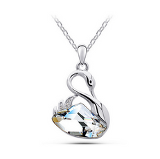 Crystal Ocean Swan Necklace