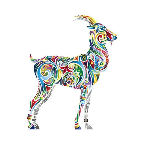 Free Goat Sticker For Clothes