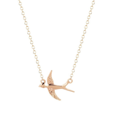 Flying Swallows Necklace