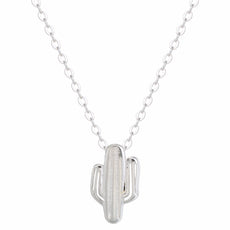 925 Sterling Silver Cactus Necklace
