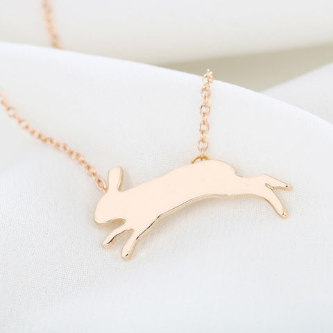 Bunny Running Necklace