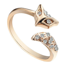 Fox Rhinestone Ring