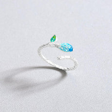 Blue Leaf Ring