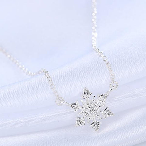 Snowflake Crystal Rhinestone Necklace