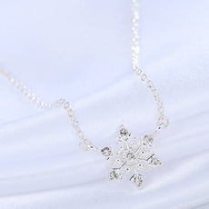 Free Snowflake Crystal Rhinestone Necklace