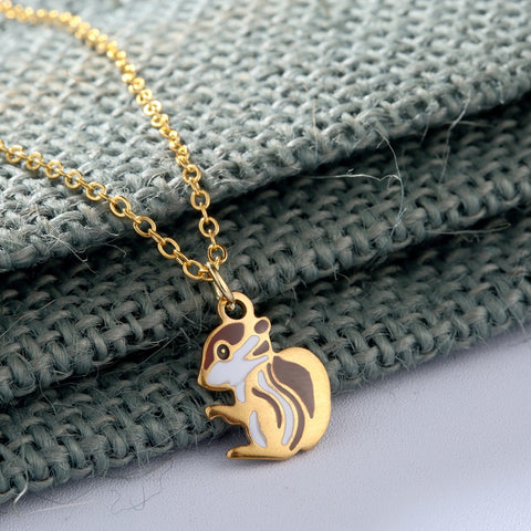 Baby Squirrel Necklace