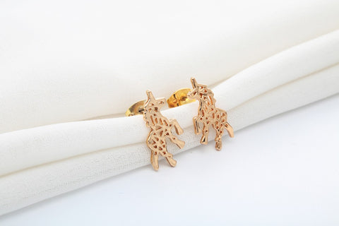 Minimalist Unicorn Earrings