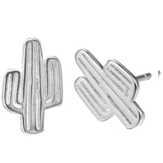 925 Sterling Silver Cactus Earrings