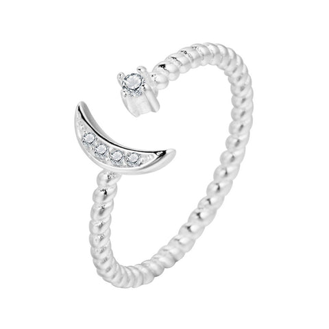 Quarter Moon Adjustable Ring