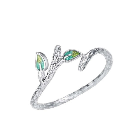 Sprout Leaves  Adjustable Ring