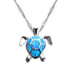 Opal Turtle Necklace