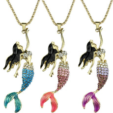 Enamel Mermaid Necklace