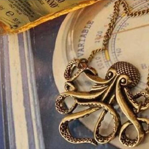 Bronze Octopus Necklace