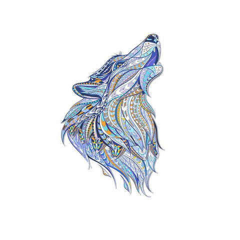 Wolf howling Sticker for Clothes
