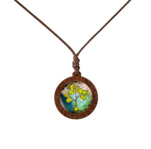 Deciduous Colorful Trees Necklace