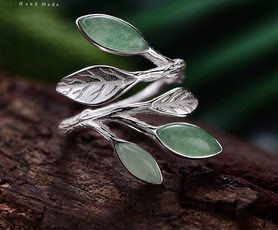 Silver Stone Open Ring