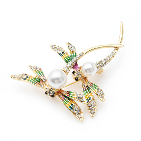 Free Double Dragonfly Brooch