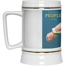"Accessories - ""The More People I Meet"" Turtle Beer Stein - 22 Oz"
