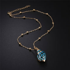 Blueish Large Shell Necklace