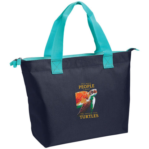 "Bags - ""The More People I Meet"" Zippered Tote"