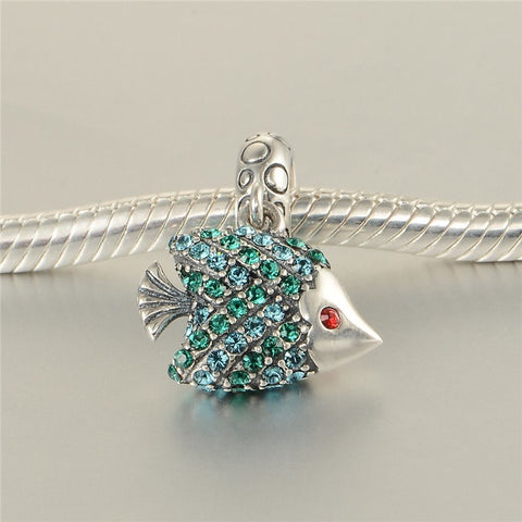 Bead - Animal Sterling Silver Fish Bead