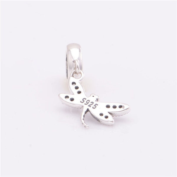 Beads - Animal Sterling Silver Hanging Dragonfly Bead
