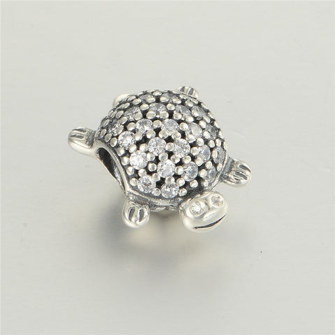 Beads - Round Sterling Silver Turtle Bead