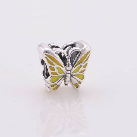 Beads - Sterling Silver Butterfly Bead