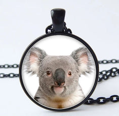 Koala Bear Cameo Necklace
