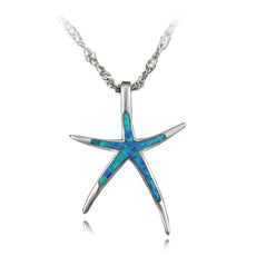 Fire Opal Starfish Necklace