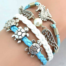 Bracelet - Sea Turtle & Sea Horse & Wing Fashion Vintage Bracelet