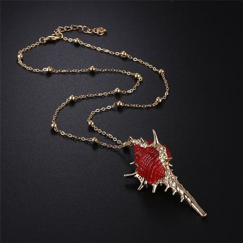 Amazing Red Shell Necklace