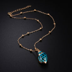 Bright Blue Shell Necklace