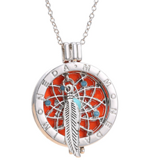 Dreamcatcher Necklace Aromatherapy Locket