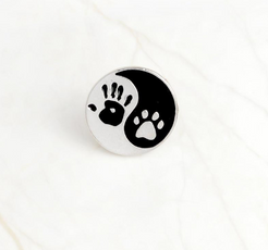 Yin Yang Hand and Paw Pin