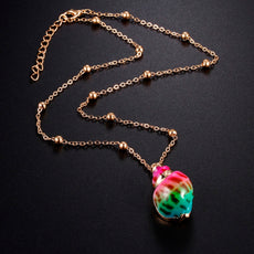 Rainbow Gold Shell Necklace