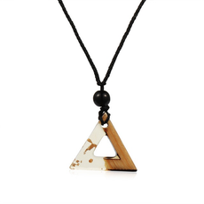 Gold Flakes Triangle Necklace