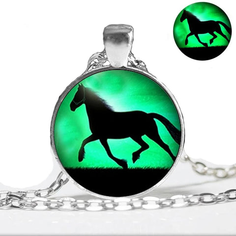 Running Horse Cameo Necklace