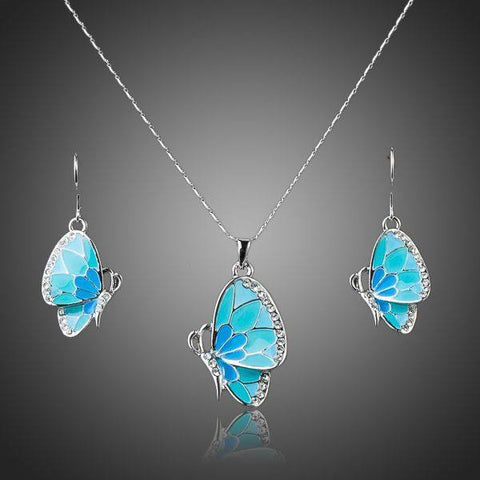 Jewelry Set - Blue Butterfly Set