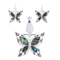 Jewelry Set - Butterfly Necklace And Earrings Set