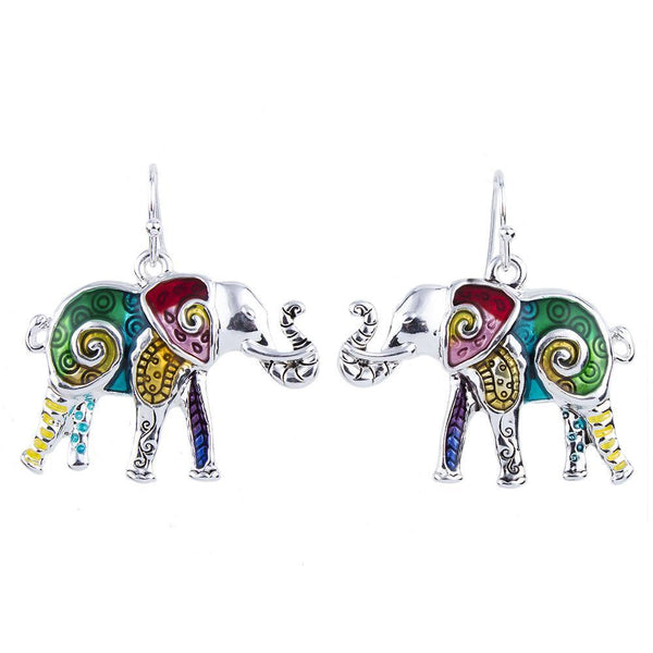 Jewelry Set - Elephant Necklace And Earrings Set