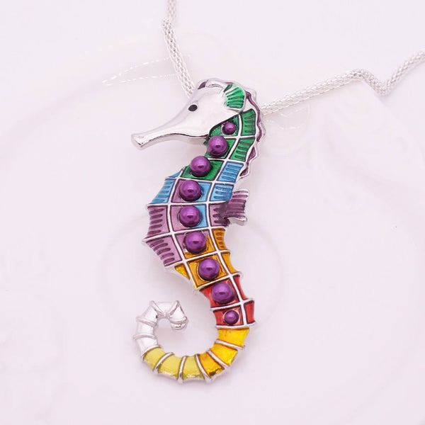 seahorse necklace and earrings set helping animals at risk
