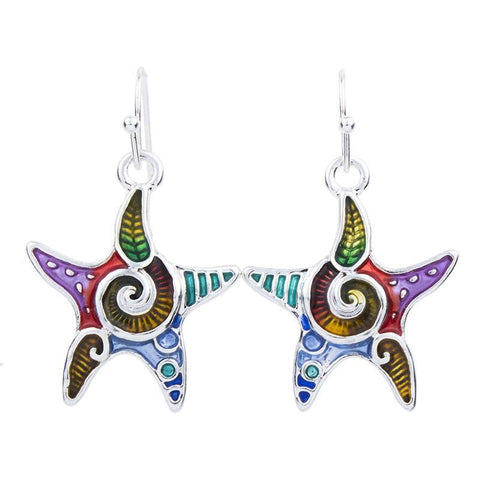 Jewelry Set - Starfish Necklace And Earrings Set