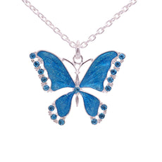 Linear - Free Crystal Butterfly Necklace