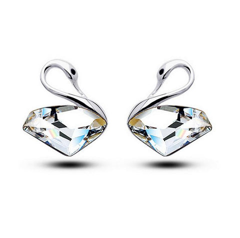 Linear - Get A Pair Of Crystal Swan Matching Earrings For $7.95!
