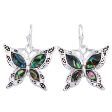 Linear - Get A Pair Of Green Butterfly Matching Earrings For $9.95!