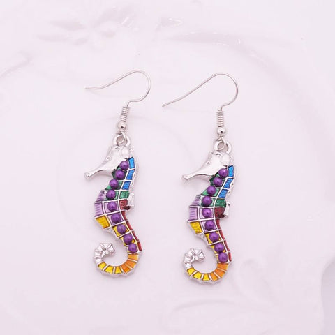 Linear - Get A Pair Of Sea Horse Matching Earrings For $9.95!