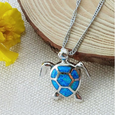 Linear - Opal Turtle Necklace