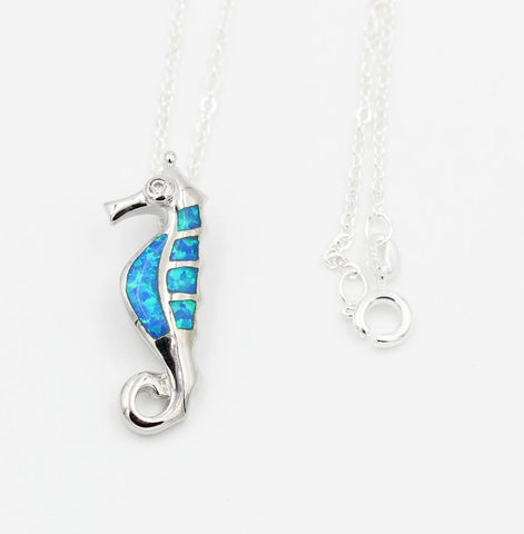 Necklace - Cute SeaHorse Opal Necklace